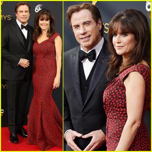 John Travolta & Kelly Preston Couple Up at Emmy Awards 2016