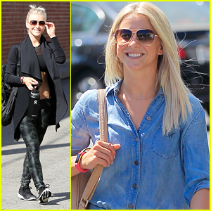 Julianne Hough Stops by The Spa Ahead of the DWTS Season