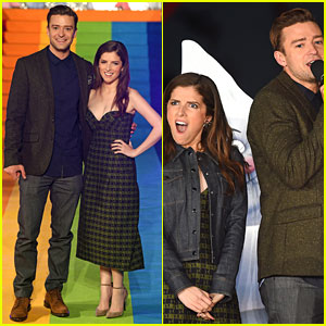 Justin Timberlake & Anna Kendrick Light the London Eye with 'Trolls' Rainbow Colors!