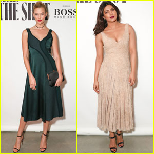 Karlie Kloss & Priyanka Chopra Celebrate 'The Shot' With W Magazine & Hugo Boss