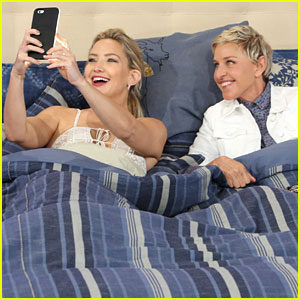 Kate Hudson & Ellen DeGeneres Snapchat From Bed!