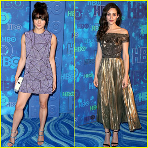 Maisie Williams & Emmy Rossum Switch Up Looks for HBO's Emmys Party 2016!