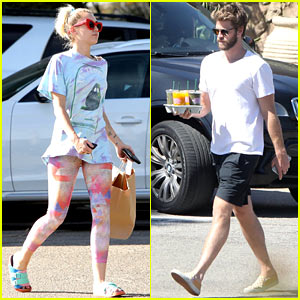 Miley Cyrus & Liam Hemsworth Step Out Separately to Grab Some Grub in Malibu