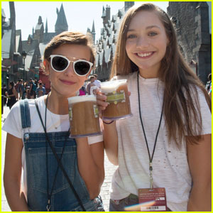 'Stranger Things' Star Millie Bobby Brown Hangs Out With Dancer Maddie Ziegler at Wizarding World of Harry Potter