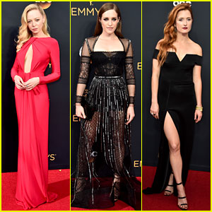 Mr. Robot's Portia Doubleday & Carly Chaikin Glam Up for Emmys 2016 Red Carept