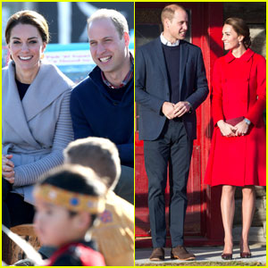 Prince William & Kate Middleton Spend Time Reading With Children in Canada
