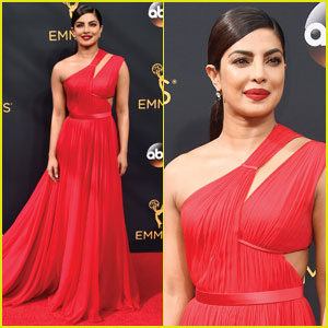 Priyanka Chopra is a Beauty in Red for Emmy Awards 2016