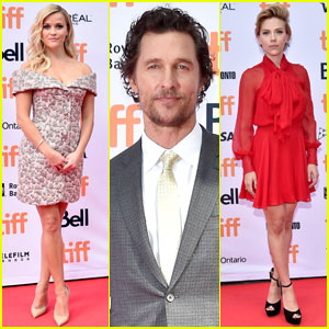 Reese Witherspoon & Matthew McConaughey Premiere 'Sing' at TIFF 2016 With Scarlett Johansson