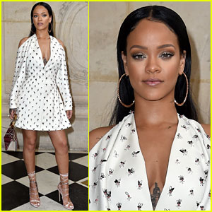 Rihanna Slays at Christian Dior Paris Fashion Show!