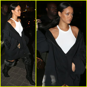 Rihanna Hits the Town After Debuting New Collection at PFW