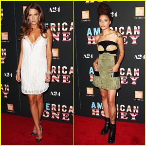 Riley Keough & Sasha Lane Debut 'American Honey' In NYC!