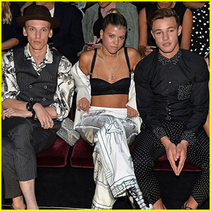 Jamie Campbell Bower & Sofia Richie Sit Front Row at Dolce&Gabbana Runway Show