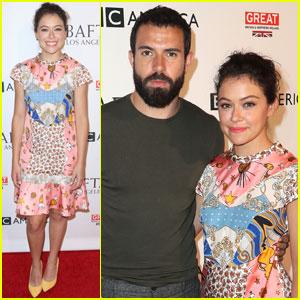 Tatiana Maslany & Tom Cullen Couple Up for BAFTA's Tea Party