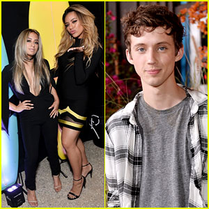 Troye Sivan Brings Music to Teen Vogue Young Hollywood Party with Fifth Harmony's Ally & Dinah!