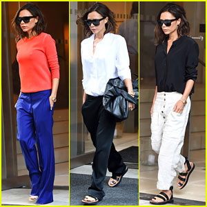 Victoria Beckham Preps for New York Fashion Week Show!