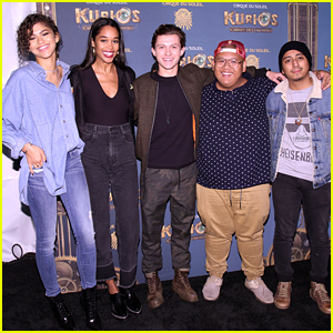 Zendaya & Tom Holland Bring 'Spider-Man: Homecoming' Cast To 'Kurios' Opening