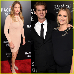 Andrew Garfield & Teresa Palmer Get Support at 'Hacksaw Ridge' Event From Caitlyn Jenner