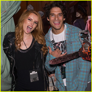 Bella Thorne & Tyler Posey Couple Up at Halloween Horror Nights