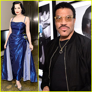 Dita Von Teese & Lionel Richie Raise Funds for AIDS Monument