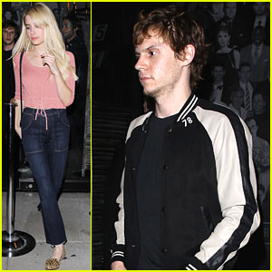 Emma Roberts & Evan Peters Grab Dinner at Catch