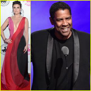 Idina Menzel & Denzel Washington Both Take the Carousel Of Hope Ball 2016 Stage