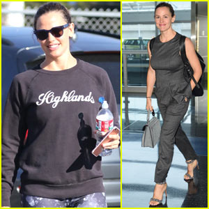 Jennifer Garner Starts Her Weekend Off with Spin Class!