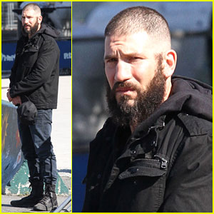 Jon Bernthal Sports Shaved Head & Bushy Beard on 'Punisher' Set!