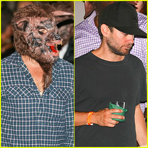 Leonardo DiCaprio Hangs with Newly Single Pal Tobey Maguire at Halloween Party