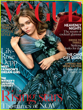 Lily-Rose Depp Looks Exquisite for British Vogue Cover