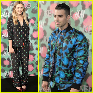 Elizabeth Olsen, Joe Jonas, & More Get Colorful at Kenzo x H&M