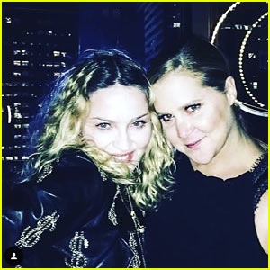 Amy Schumer & Madonna Hang Out After Madonna Opens Amy's NYC Show!