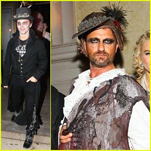 Matthew Bellamy & Gerard Butler Celebrate Halloween at 'treats! Magazine' Party