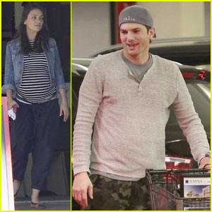Mila Kunis & Ashton Kutcher Spend Saturday Grocery Shopping