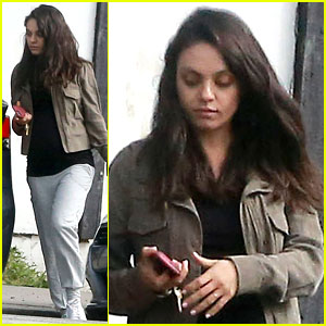 Pregnant Mila Kunis Goes Casual in Sweats for an Errand Run