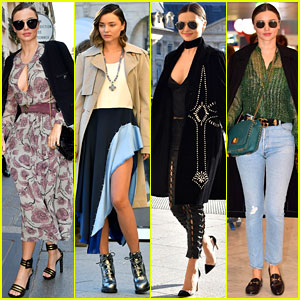 Miranda Kerr Rocks Four Looks in One Day During PFW