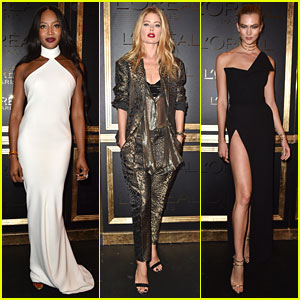 Naomi Campbell, Doutzen Kroes, & Karlie Kloss Stun at Gold Obsession Party