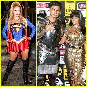 Paris Hilton, Aubrey O'Day, & Pauly D Ring In Halloween with Just Jared!