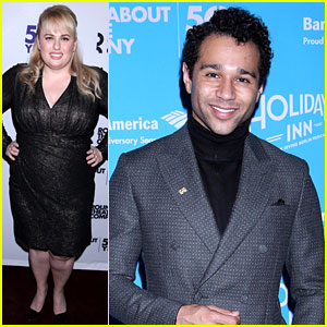 Rebel Wilson Supports Corbin Bleu at His Opening Night in Broadway's 'Holiday Inn'