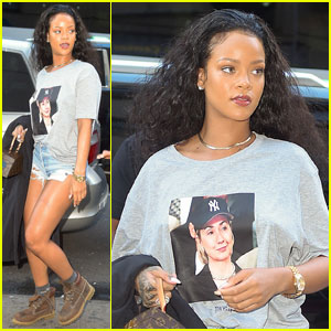 Rihanna Rocks Hillary Clinton T-Shirt Ahead of the Debate