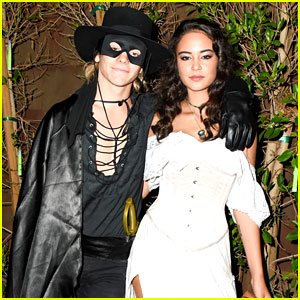 R5's Ross Lynch Couples Up with Courtney Eaton at the #JJALIENS Halloween Party!