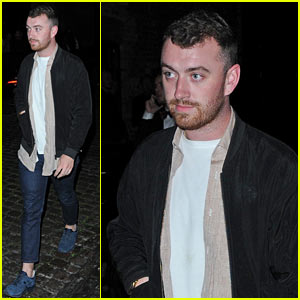 Sam Smith Starts Steps Out for Dinner to Start Off His Weekend