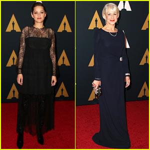 Academy Award Winners Marion Cotillard & Helen Mirren Attend the Governors Awards!