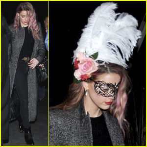 Amber Heard Shows Off New Pink Hair on Halloween