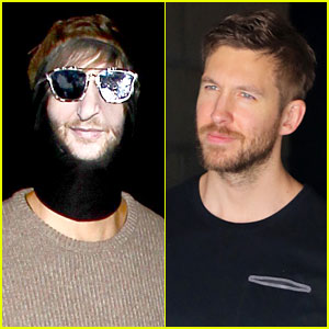 Calvin Harris Dresses as David Guetta for Halloween!