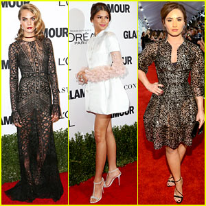 Cara Delevingne, Zendaya, & Demi Lovato Get Glam for Glamour Women of the Year Awards!