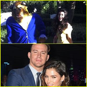Jenna Dewan & Channing Tatum Dress as 'Beauty & The Beast' for Halloween!