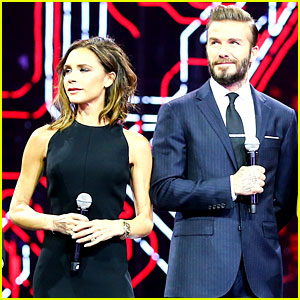 David & Victoria Beckham Make Rare Appearance on Stage Together!