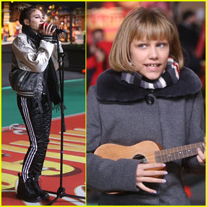 Daya & Grace VanderWaal Rehearse for Tomorrow's Macy's Thanksgiving Day Parade!