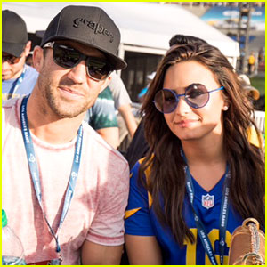 Demi Lovato & Rumored Beau Luke Rockhold Cheer on Los Angeles Rams!