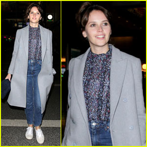 Felicity Jones Enjoys Some Time Off Before Promoting New 'Rogue One' Film